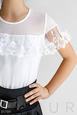 Блуза с кружевными вставками, фото 3
