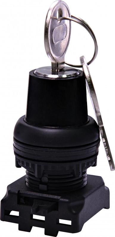 Перекл. поворотн. EGK3-ZXZ-C (3-х поз., без фикс. с ключом, 1-0-2, 45°, черный)
