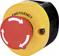 "Кнопочный пост 1-модул. ESE1Y-V1 (""STOP"" гриб.типа, откл. поворотом, красный, корп. желто-черн.)"