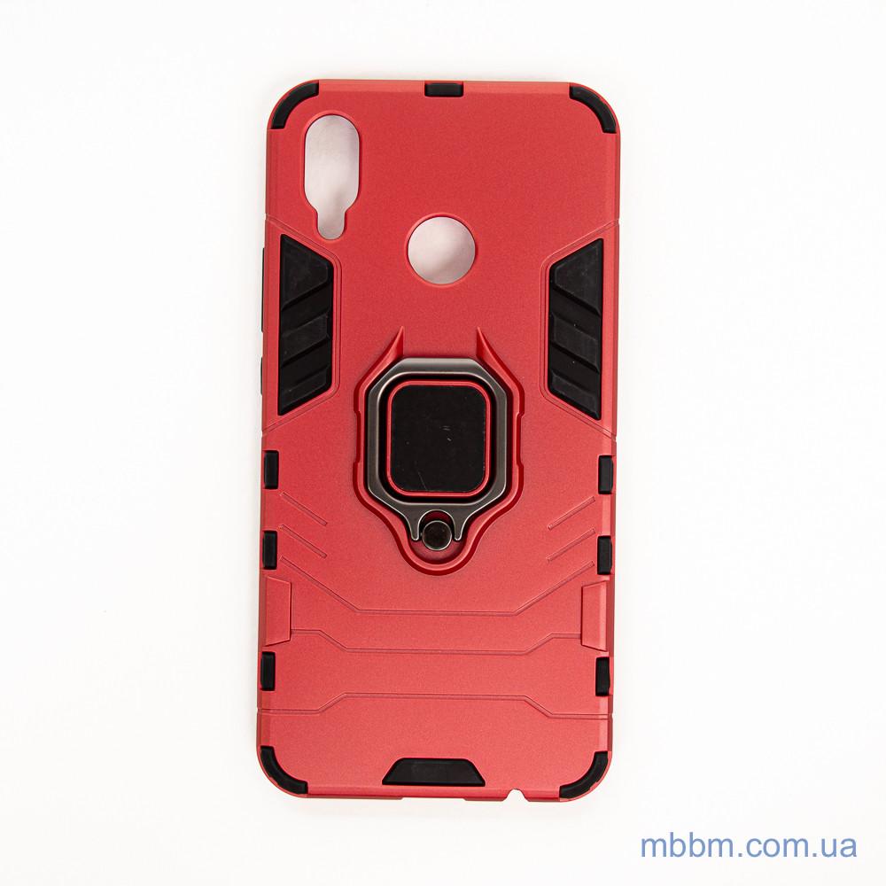 Ударопрочный чехол Transformer Ring под магнитный держатель для Huawei P Smart Plus dante red