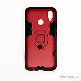 Ударопрочный чехол Transformer Ring под магнитный держатель для Huawei P Smart Plus dante red, фото 2