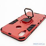 Ударопрочный чехол Transformer Ring под магнитный держатель для Huawei P Smart Plus dante red, фото 3