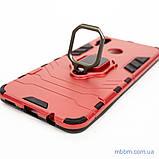 Ударопрочный чехол Transformer Ring под магнитный держатель для Huawei P Smart Plus dante red, фото 4