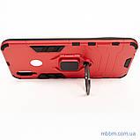 Ударопрочный чехол Transformer Ring под магнитный держатель для Huawei P Smart Plus dante red, фото 6