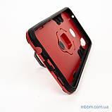 Ударопрочный чехол Transformer Ring под магнитный держатель для Huawei P Smart Plus dante red, фото 5