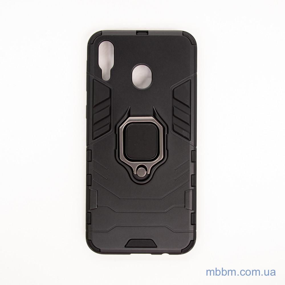 Ударопрочный чехол Transformer Ring под магнитный держатель Samsung M20 black