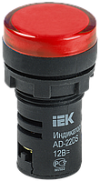 Лампа AD22DS(LED)матрица d22мм красный 12В AC/DC ИЭК