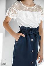 Блуза с кружевными оборками, фото 2