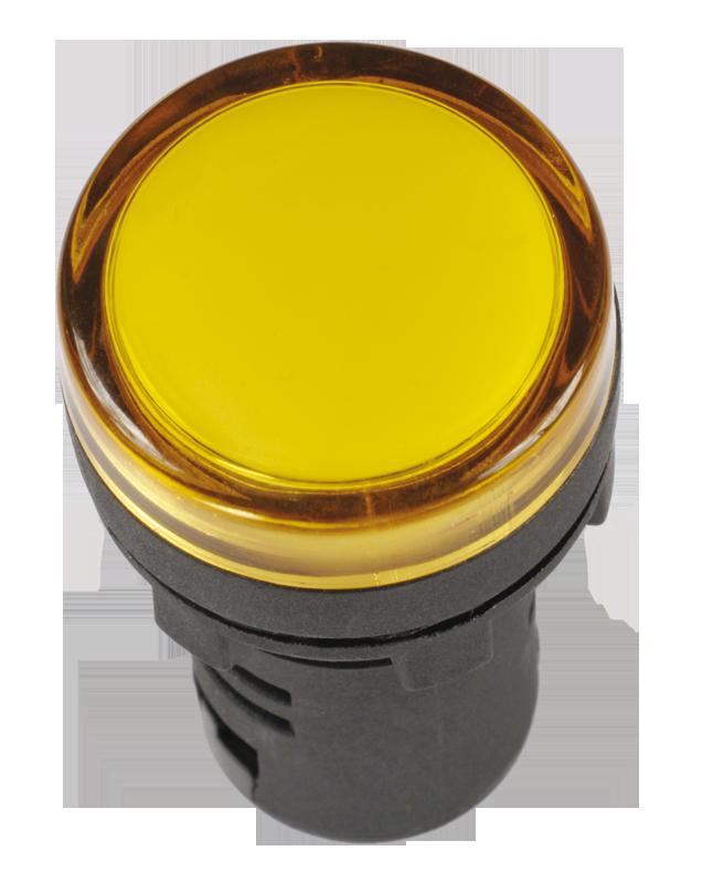 Лампа AD22DS(LED)матрица d22мм желтый 12В AC/DC ИЭК