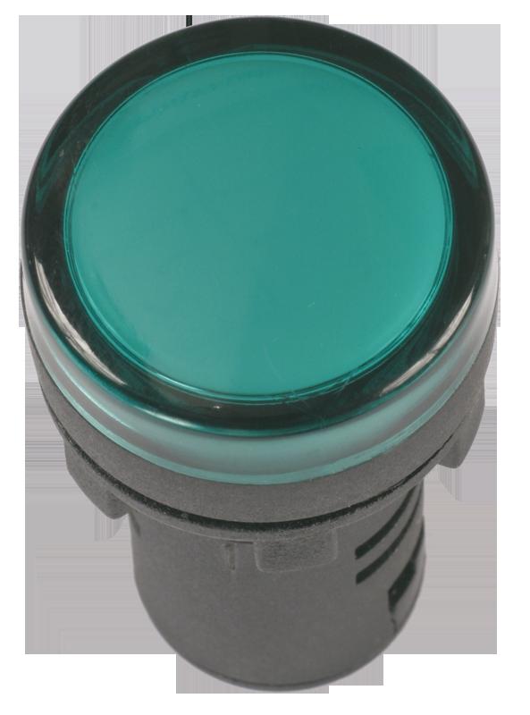 Лампа AD22DS(LED)матрица d22мм зеленый 110В AC/DC ИЭК