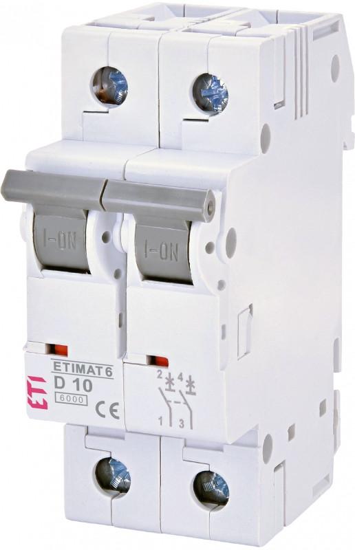 Авт. вимикач ETIMAT 6 2p D 10A (6kA)