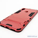 Ударопрочный чехол-подставка Transformer Xiaomi Redmi Note 7 red, фото 4