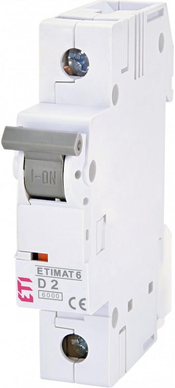 Авт. выключатель ETIMAT 6  1p D  2A (6kA)