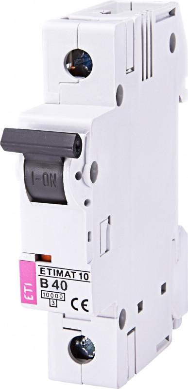 Авт. вимикач ETIMAT 10 1p B 40А (10 kA)
