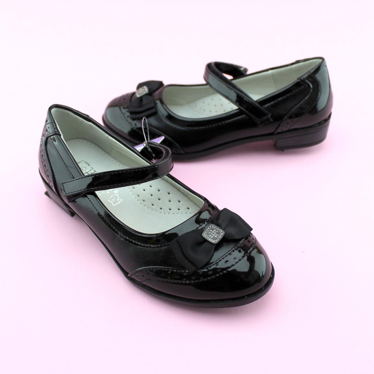 Туфли девочке черные с ремешком тм Том.М размер 35,36,38
