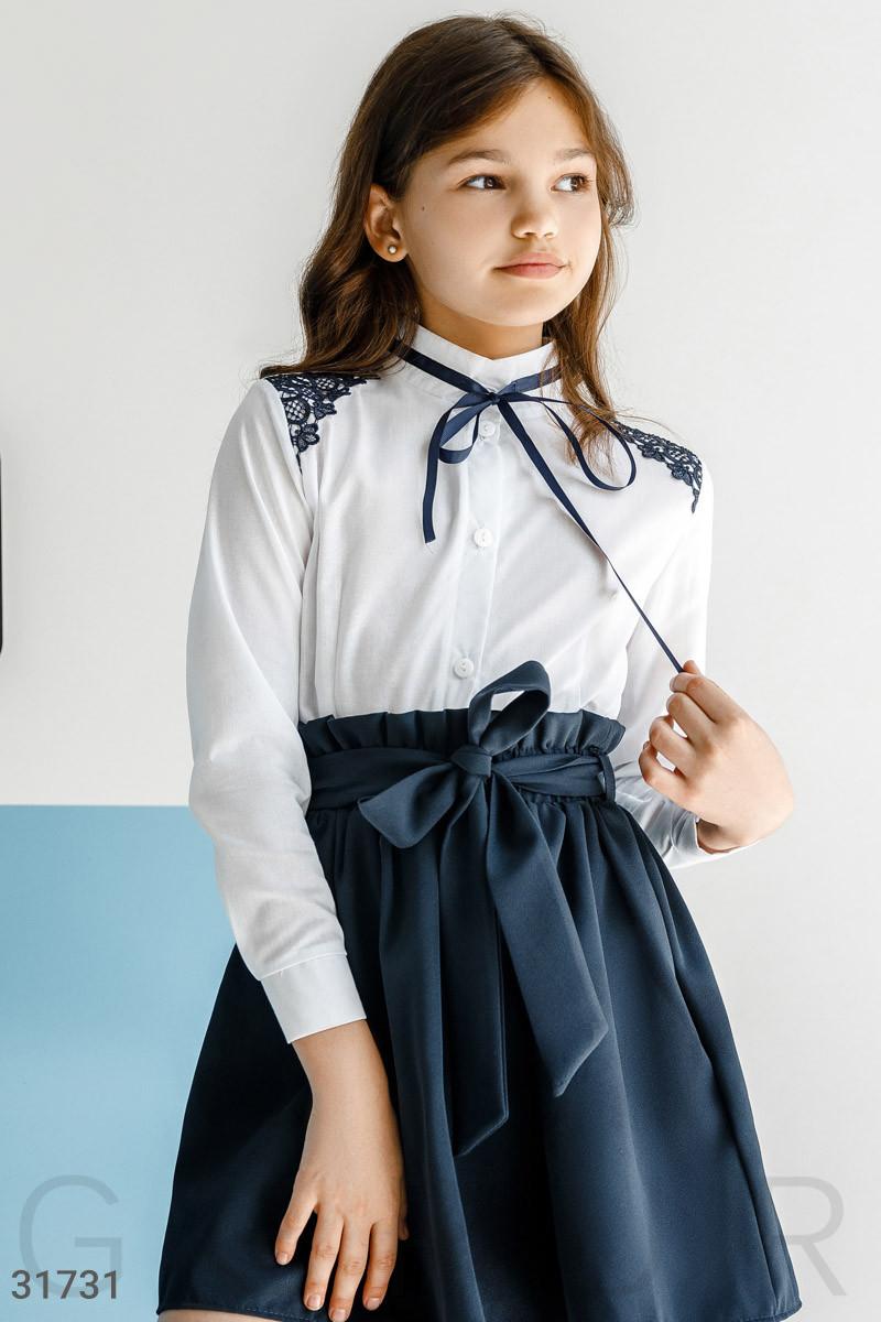 Рубашка с контрастным декором