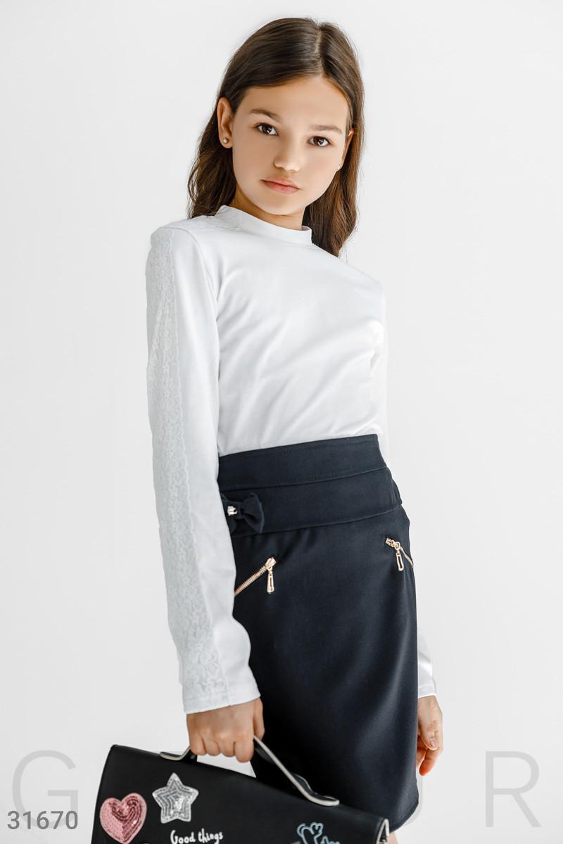 Школьная прямая юбка