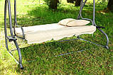 Садова качеля розкладна 3 місна, фото 2