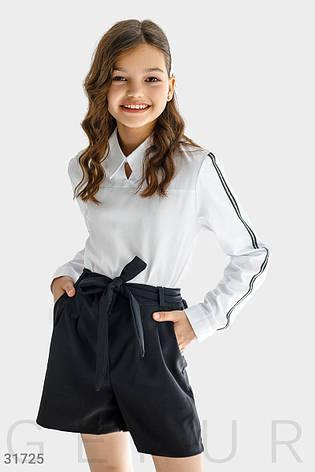 Блуза с контрастными лампасами, фото 2