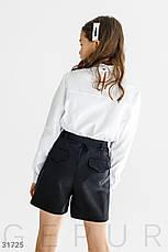 Блуза с контрастными лампасами, фото 3