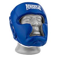 Боксерский шлем тренировочный PowerPlay 3068 PU + Amara Сине-Белый M, фото 1