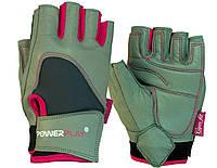 Перчатки для фитнеса и тяжелой атлетики PowerPlay 1747 женские Розовые XS