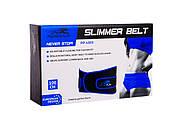 Пояс для похудения PowerPlay 4303 Черно-Синий, фото 3