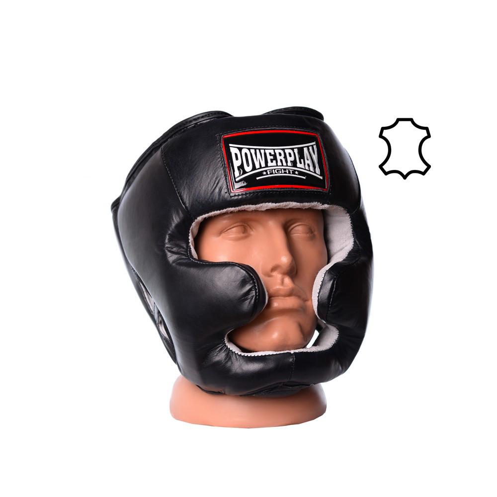 Боксерский шлем тренировочный PowerPlay 3065 Черный