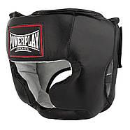 Боксерский шлем тренировочный PowerPlay 3065 Черный, фото 2