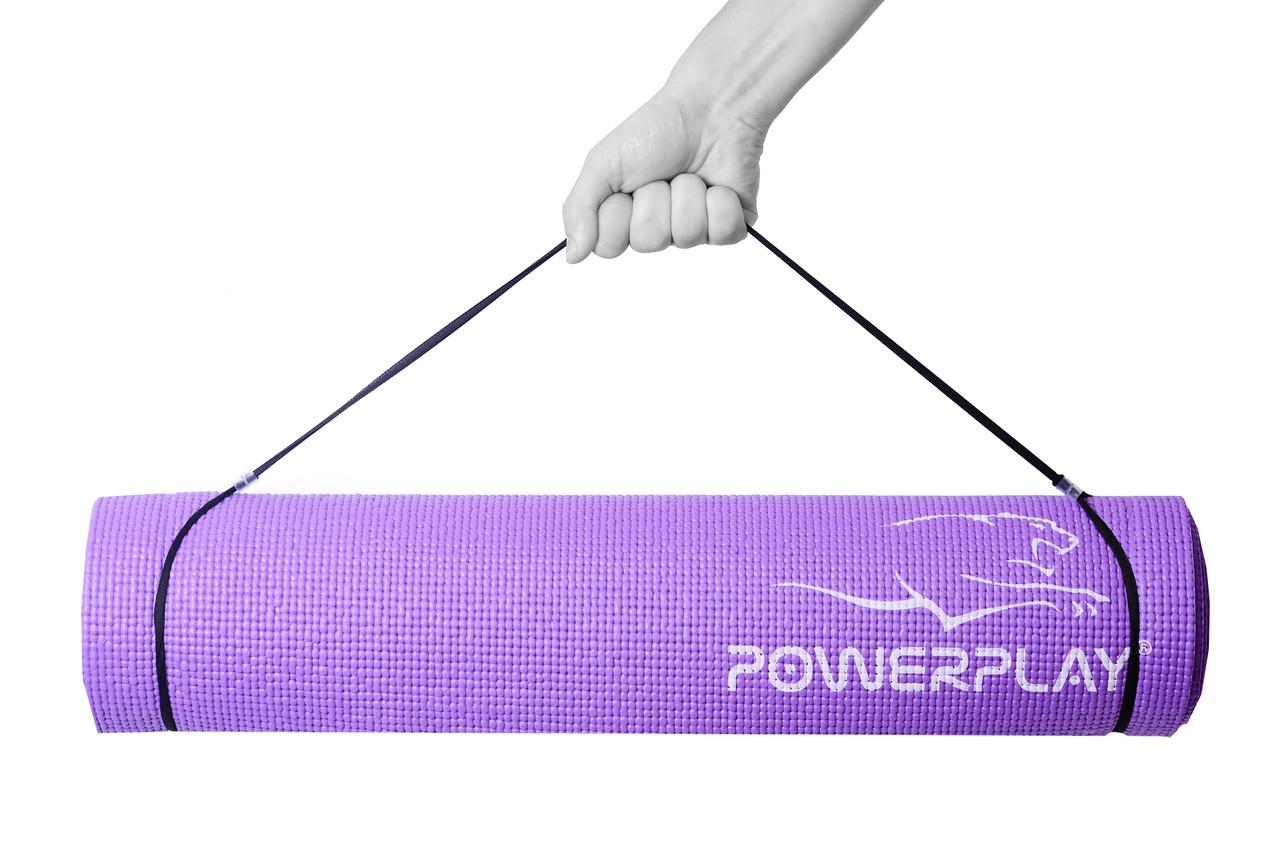 Коврик для фитнеса и йоги PowerPlay 4010 (183 * 61 * 0.6) Фиолетовый
