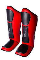 Защита голени и стопы PowerPlay 3032 Черно-Красный S / M / L / XL