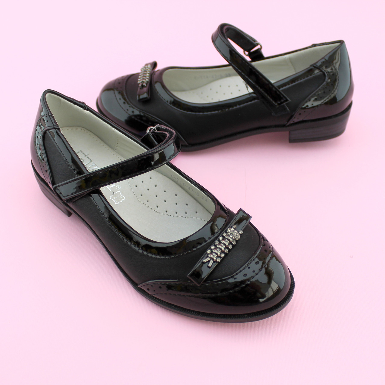 Туфли девочке Черные Бантик тм Том.М размер 36,38