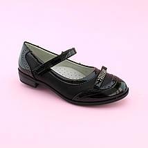 Туфли девочке Черные Бантик тм Том.М размер 36,38, фото 3
