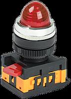 Лампа AL-22 сигнальная d22мм красный неон/240В цилиндр ИЭК