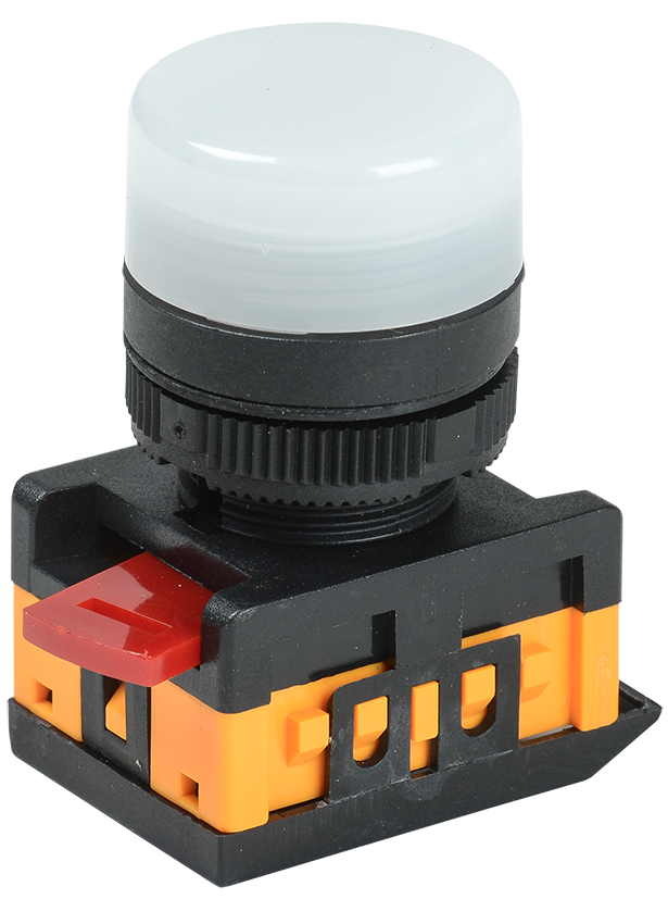 Лампа AL-22TE сигнальная d22мм белый неон/240В цилиндр ИЭК