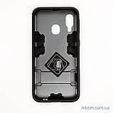 Ударопрочный чехол-подставка Transformer Samsung A40 gun metal, фото 2