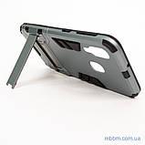 Ударопрочный чехол-подставка Transformer Samsung A40 gun metal, фото 3