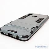 Ударопрочный чехол-подставка Transformer Samsung A40 gun metal, фото 4