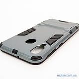 Ударопрочный чехол-подставка Transformer Samsung A40 gun metal, фото 5