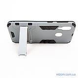 Ударопрочный чехол-подставка Transformer Samsung A40 gun metal, фото 7