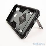 Ударопрочный чехол-подставка Transformer Samsung A40 gun metal, фото 6