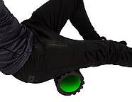 Массажный ролик PowerPlay 4025 Черно-Зеленый, фото 3