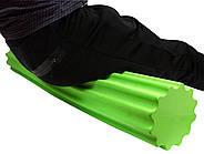 Ролик для йоги и пилатес PowerPlay 4020 (90 * 15см) Зеленый, фото 4