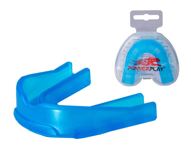 Капа боксерская PowerPlay 3307 SR Синяя