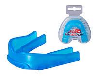 Капа боксерская PowerPlay 3307 SR Синяя, фото 1