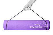 Коврик для фитнеса и йоги PowerPlay 4011 (173 * 61 * 0.6) Фиолетовый, фото 2
