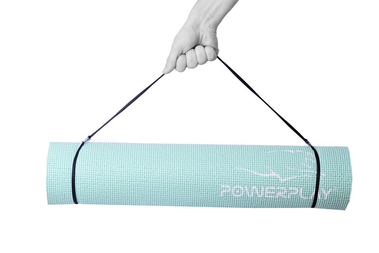 Коврик для фитнеса и йоги PowerPlay 4010 (173 * 61 * 0.6) Мятный