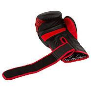 Боксерские перчатки PowerPlay 3023 A Черно-красные (натуральная кожа) 10 oz 12 oz 14 oz 16 oz, фото 7