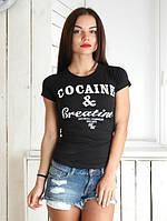 Футболка женская COCAINE & CREATINE, черная