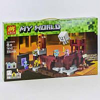 Конструктор Lele My World 79147 (18) 589 деталей, Подземная крепость, в кор-ке